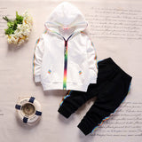 Solid Colors Sport Suit for Babies