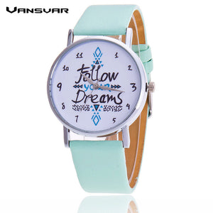 Follow Your Dreams Dial Wristwatch - Wrist Watches - TiltedHead