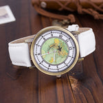 Travel Lover's Watch with Flying Plane Seconds Hand - Wrist Watches - TiltedHead