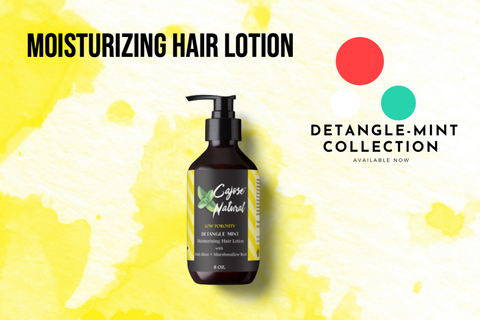 Moisturizing Hair Lotion w/Irish Moss + Marshmallow Root