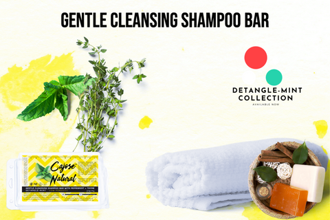 Gentle Cleansing Shampoo Bar with Peppermint + Thyme