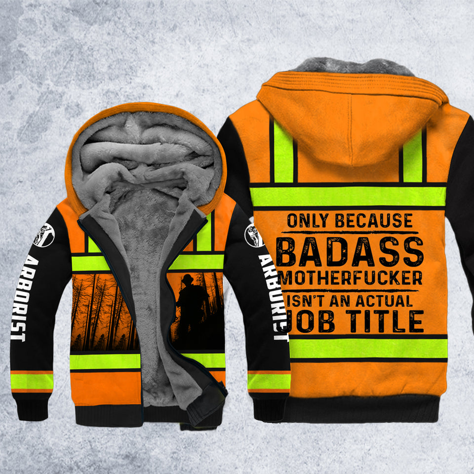DH ARBORIST BADASS SAFETY HOODIE ALL OVER PRINT