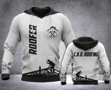 Customized Roofer 3D printed hoodie BLC