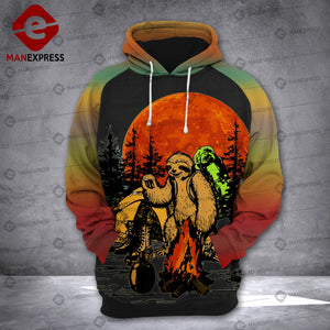 Sloth Hiking Camping 3D printed hoodie