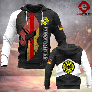 MPP FIREFIGHTER GERMANY 3D HOODIE