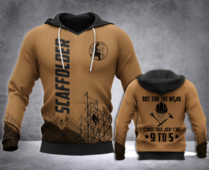 Scaffolder Not For The Weak 3D all over printed hoodie WHJ