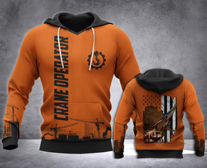 Crane Operator Flag 3D all over printed hoodie WHJ