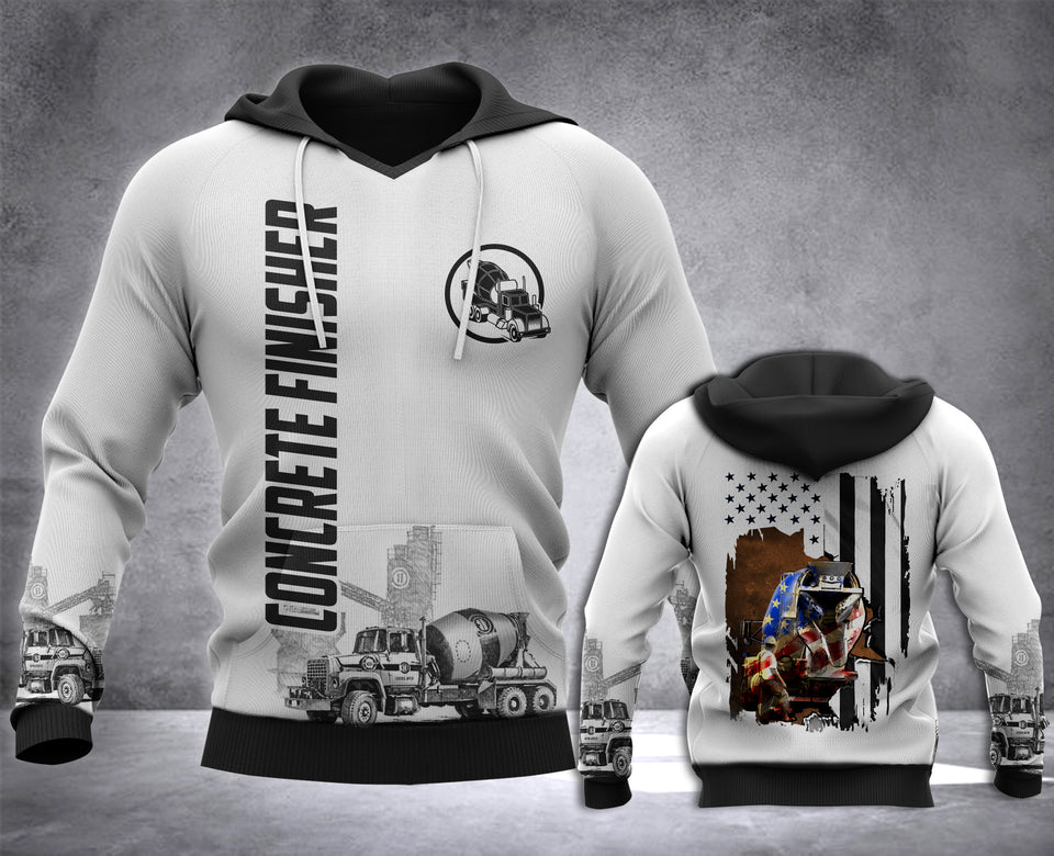 Concrete Finisher Flag 3D all over printed hoodie WHJ