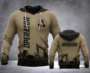 Heavy Equipment Operator 3D all over printed hoodie WHJ