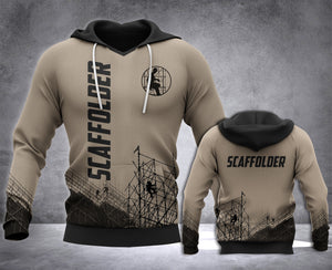 Scaffolder 3D all over printed hoodie WHJ
