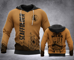 Scaffolder 9 to 5 3D all over printed hoodie WHJ