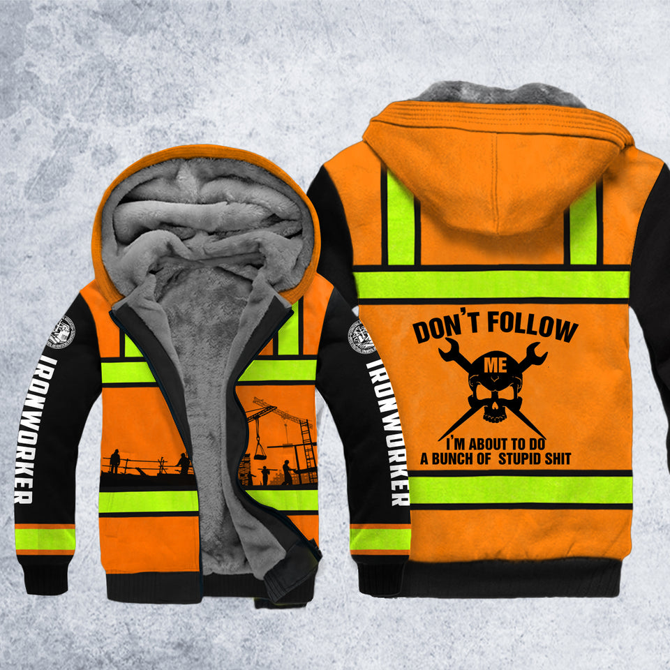 DH IRONWORKER FOLLOW SAFETY HOODIE ALL OVER PRINT