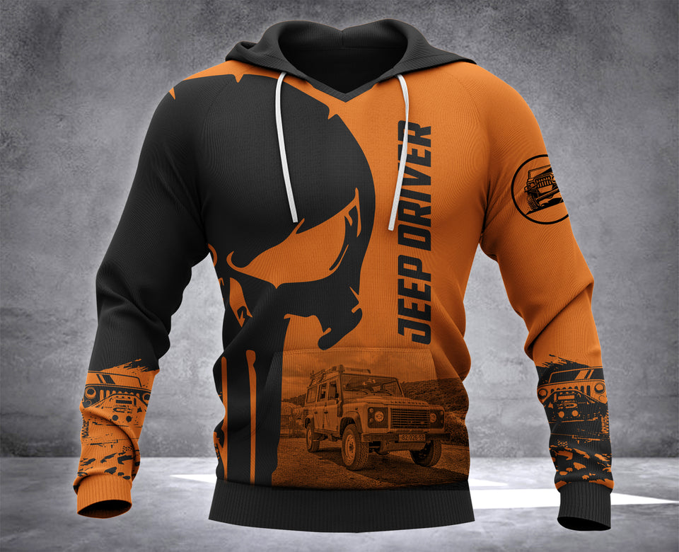 DH JEEP DRIVER PUN HOODIE ALL OVER PRINT
