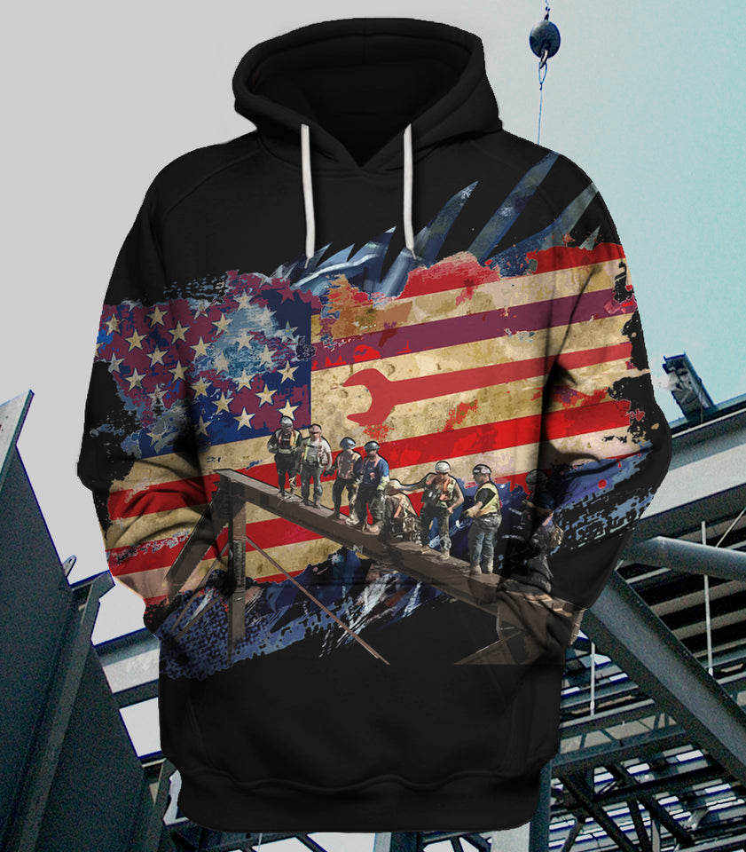 Iron Flag Hoodie 3D