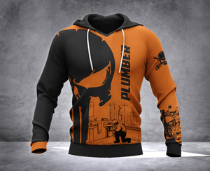 DH PLUMBER PUN HOODIE ALL OVER PRINT