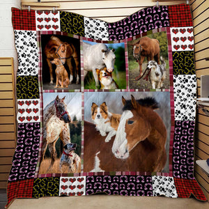 HORSE AND DOG QUILT PLANKET