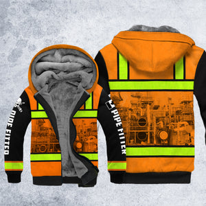 DH CANADA PIPEFITTER SAFETY HOODIE ALL OVER PRINT