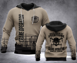 Crane Operator Smile Back 3D all over printed hoodie WHJ