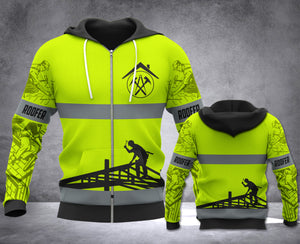 LMT ROOFER SAFETY ZIPPED HOODIE