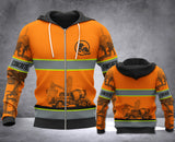 LMT Concrete finisher SAFETY ZIPPED HOODIE