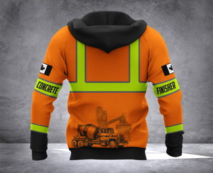 LMT CONCRETE FINISHER CANADA 3D HOODIE