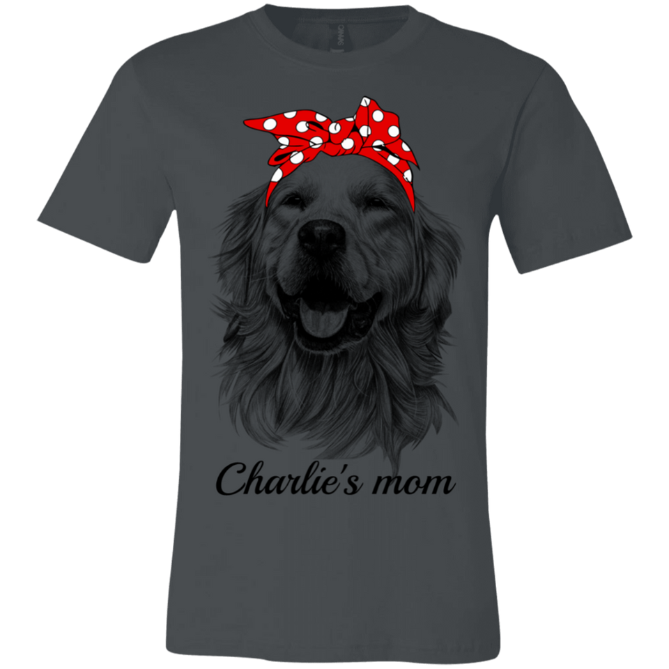 CUSTOMIZE DOG MOM T SHIRT GOLDEN