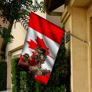 FIREFIGHTER CANADA FLAG