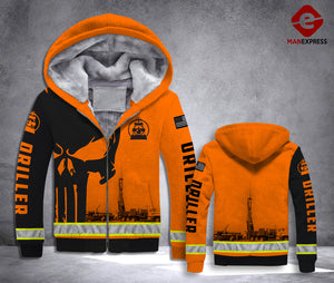 DH DRILLER FLEECE ZIPPER HOODIE HEROES ALL OVER PRINT