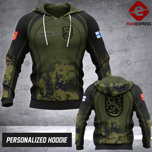Personalized Finnish Warriors OPM 3D printed hoodie ARMS Finland