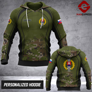 Personalized Slovak OPM 3D printed hoodie ARMS