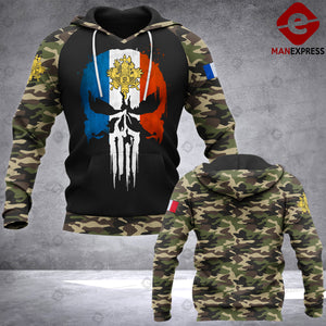Soldier Punisher French 3d Printed HOODIE NQA