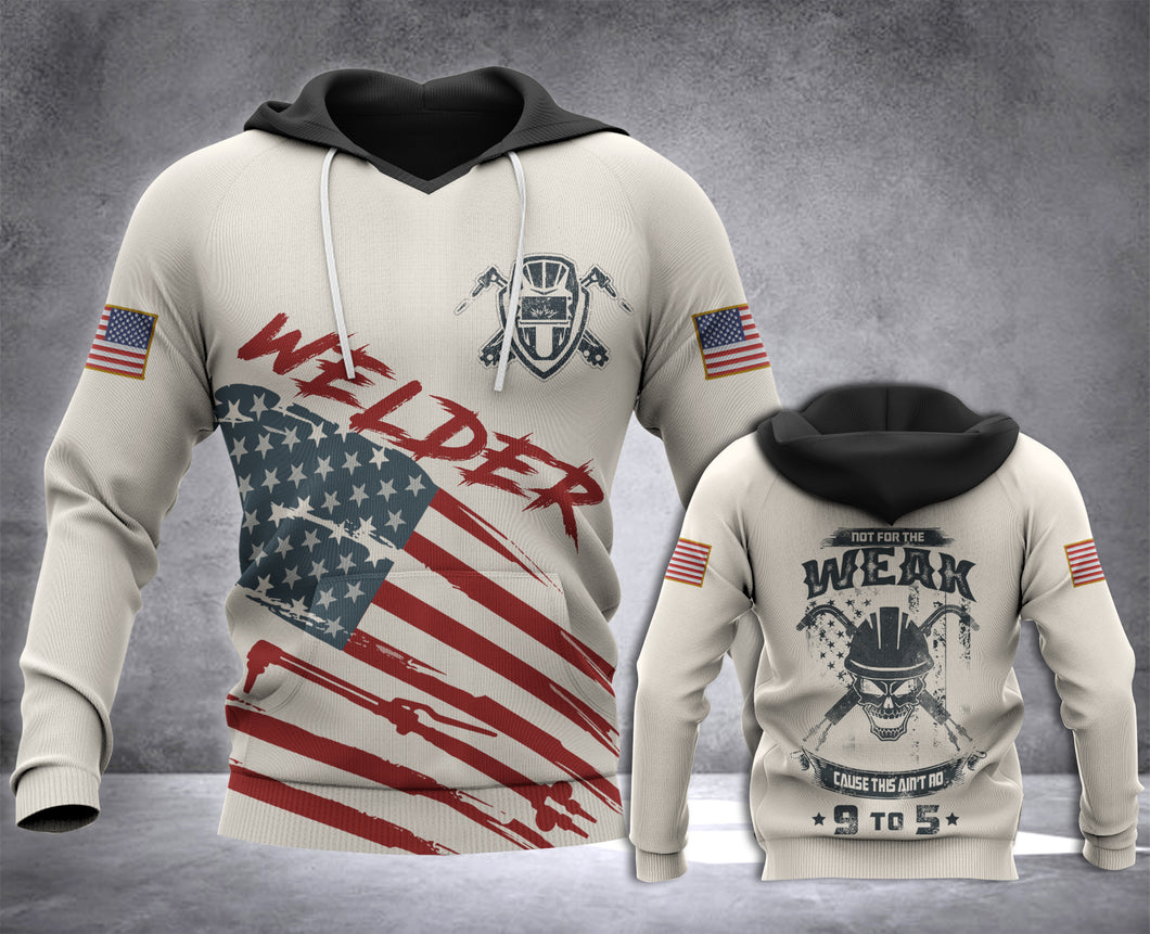 FTT Welder 3d all over printed hoodie