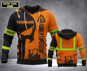 CUSTOMIZE Forklift operator MT 3D PRINT HOODIE