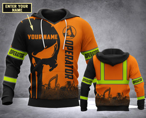 CUSTOMIZE Operator MT 3D PRINT HOODIE