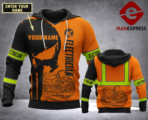 CUSTOMIZE ELectrician MT 3D PRINT HOODIE