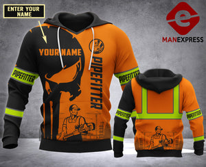 CUSTOMIZE Pipefitter MT 3D PRINT HOODIE