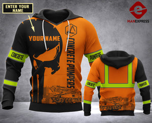 CUSTOMIZE Concrete Pumpers MT 3D PRINT HOODIE