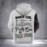 MARCH GIRL WITH TATTOOS  HOODIE v2