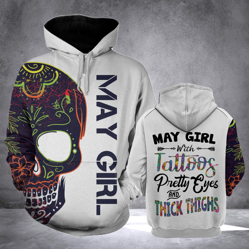 MAY GIRL WITH TATTOOS  HOODIE v2