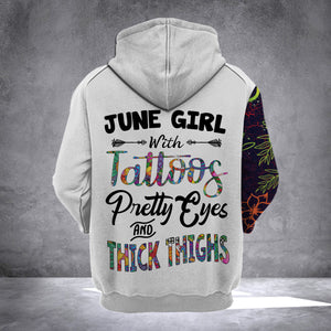 JUNE GIRL WITH TATTOOS  HOODIE v2
