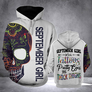 SEPTEMBER GIRL WITH TATTOOS  HOODIE v2