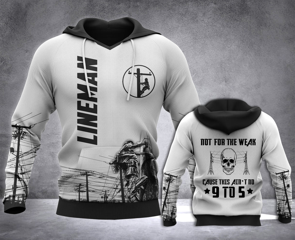 Lineman Not For The Weak 3D all over printed hoodie WHJ