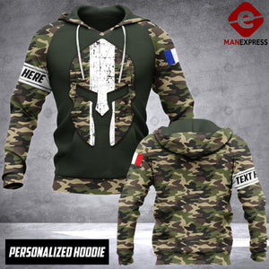 Soldier French personalized 3d Printed HOODIE NQA