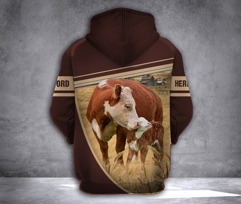 mtp hereford cattle 3D printed hoodie