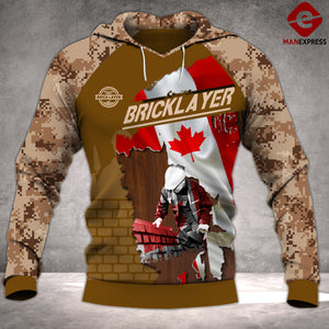 MTP BRICKLAYER CANADA PATRIOT HOODIE CAMO