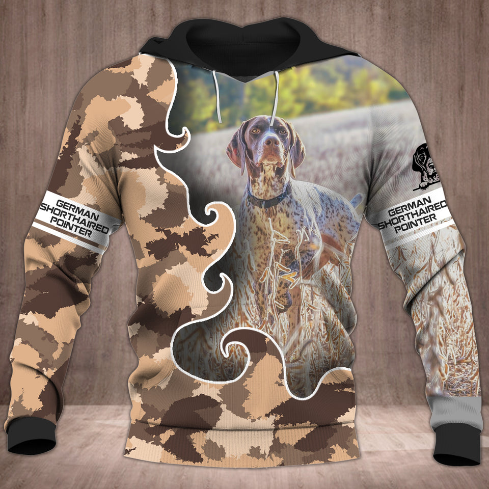 German Shorthaired Pointer 3D all over printed hoodie SAC