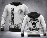 Ironworker Smile Back 3D all over printed hoodie WHJ