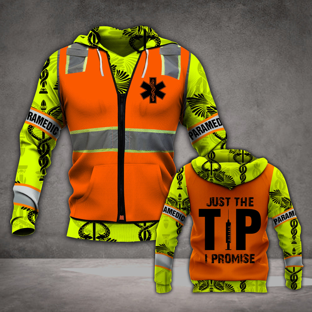 VH PARAMEDIC TIP 3D ALL OVER PRINTED HOODIE