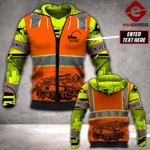 CUSTOMIZE CONCRETE PUMPER LMT SAFETY 3D PRINTED HOODIE PDT0601
