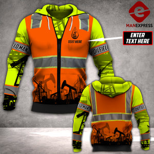 CUSTOMIZE Oilfield man LMT SAFETY 3D PRINTED HOODIE PDT0601